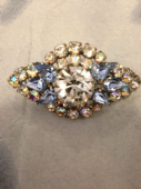 1950s Blue and White Crystal Brooch perfect for a Party! (SOLD)